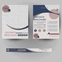 modern affärsblad affisch mall vektor