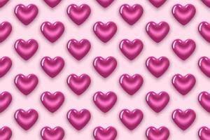 Muster mit rosa lila Herzen vektor
