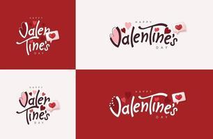 Happy Valentinstag Typografie Banner Hintergrund. vektor