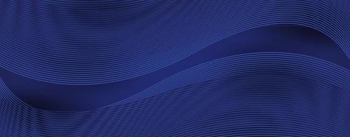 Abstrakter Hintergrund der modernen Linienwellenkurve 3d vektor