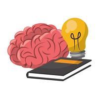 Cartoons zur Intelligenz und Kreativität des menschlichen Gehirns vektor