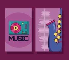 Musikfestival Poster Set vektor