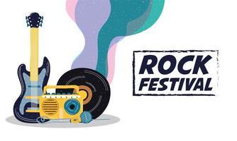Rock Festival Unterhaltung Einladungsplakat vektor