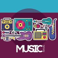 musikfestival affisch vektor