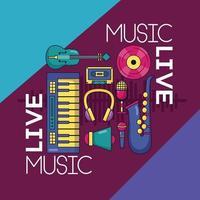 Musikfestival Poster vektor