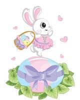 Glücklicher Ostertag, Feiertag bunt egged auf blauem Hintergrund. kann zum Verkauf Werbung, Hintergrund, Grußkarte und Poster Vektor verwendet werden