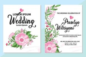 Vektorillustration einer schönen Blumengrenze mit Frühlingsblumen für Einladungen und Geburtstagskarten vektor