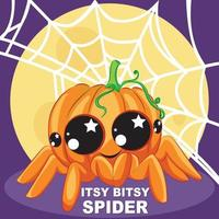 itsy bitsy spider halloween pumpa vektor