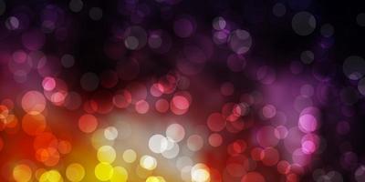 ljusrosa, gul vektorbakgrund med fläckar. vektor