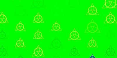 ljusgrönt vektormönster med magiska element. vektor