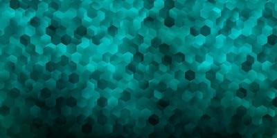 mörkgrönt vektormönster med hexagoner. vektor