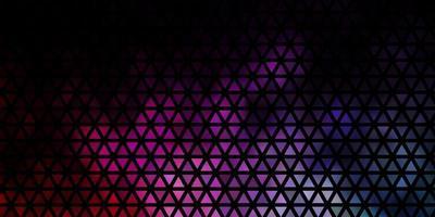 mörkrosa, grön vektorbakgrund med trianglar. vektor