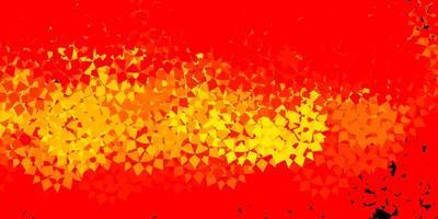 ljus orange vektor bakgrund med polygonala former.