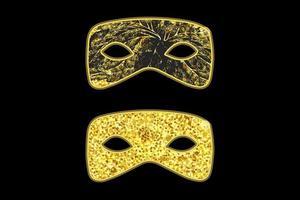 goldene Maskerademasken vektor