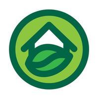 miljöhus logotyp vektor