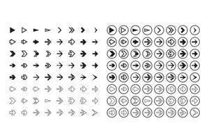 isolierte Pfeile setzen, rückgängig machen und vorherige Schaltflächen vektor