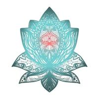 blomma lotus tatuering vektor