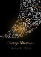 god jul gratulationskort vektor