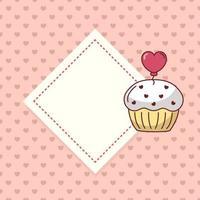 Alla hjärtans dag muffinsdesign vektor