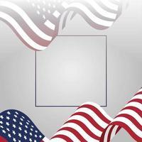 4 juli firande design med flaggor vektor