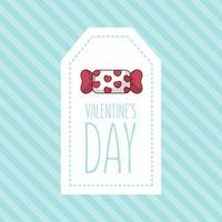 Alla hjärtans dagskortdesign med godis vektor