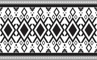 abstrakt geometrisk mönster sömlös svartvit vektor