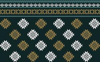 nahtloser Vektor des abstrakten grünen geometrischen nativen Musters.