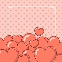 Alla hjärtans dag hjärtan design vektor