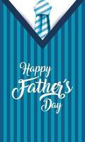 gestreifte Krawatte und Pulloverhemd für Vatertagsfeier vektor