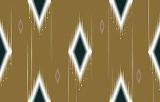 abstrakter geometrischer gelber und grüner nativer Muster nahtloser Vektor