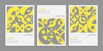 geometrische Plakatfarbe des Jahres 2021 vektor