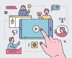 sociala nätverk koncept illustration.