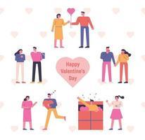 fröhlichen Valentinstag. vektor