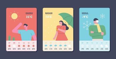 Wetter App Vorlage. vektor