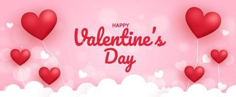 Happy Valentin Tag Hintergrund. vektor