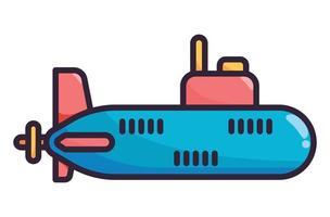 U-Boot-Illustration in voller Farbe vektor