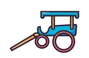 Wagen Transport Illustration Vollfarbe vektor