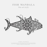 Fischmandala. Vintage dekorative Elemente. orientalisches Muster, Vektorillustration. vektor