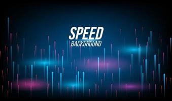 Hochgeschwindigkeitsrennen der abstrakten Hintergrundtechnologie für Sportarten des Langzeitbelichtungslichts auf schwarzem Hintergrund. vektor
