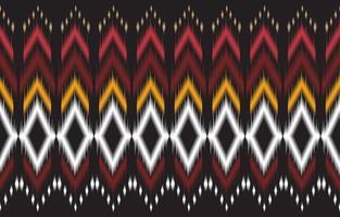 abstrakt svart och röd geometrisk infödda sömlös vektor