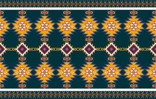 abstrakter orange und roter geometrischer nativer Muster nahtloser Vektor. Wiederholte geometrische vektor