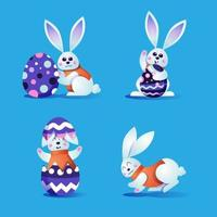 Ostern niedlichen Hasen Charakter vektor