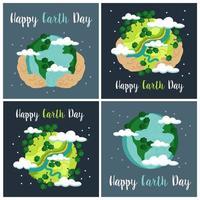 Tag der Erde Kartensatz vektor