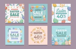 uppsättning påskförsäljning med ägg för sociala medier