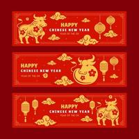 horizontale Banner chinesisches Neujahr 2021 Jahr des Ochsen