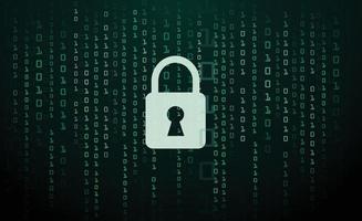 digital lås vakt tecken binär kod nummer cyber data bakgrund vektor illustration eps10