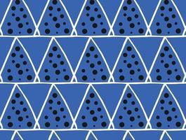 vektor textur bakgrund, sömlösa mönster. handritade, blå, svarta, vita färger.