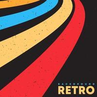 retro grunge textur bakgrund med vintage färg ränder. vektor illustration