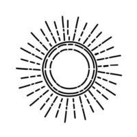 Tageslichtsymbol. Gekritzel Hand gezeichnet oder schwarzer Umriss Symbol Stil vektor
