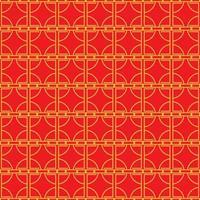 chinesisches nahtloses Muster. minimaler geometrischer Hintergrund im Porzellanstil. Vektorillustration